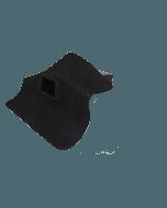 EPDM hemelwaterafvoer 60mm x 80mm - 90 graden uitloop